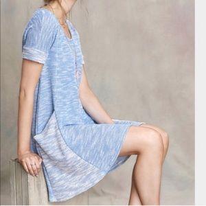 Puella for Anthropologie Blue Knit Dress